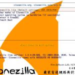 Boot menu of Clonezilla Live
