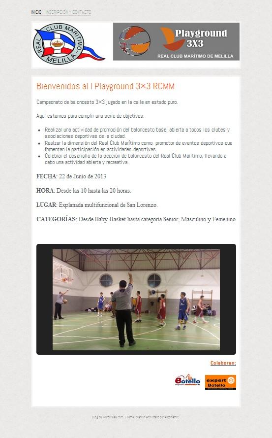 Pagina web PlayGroundRCMM - Inicio